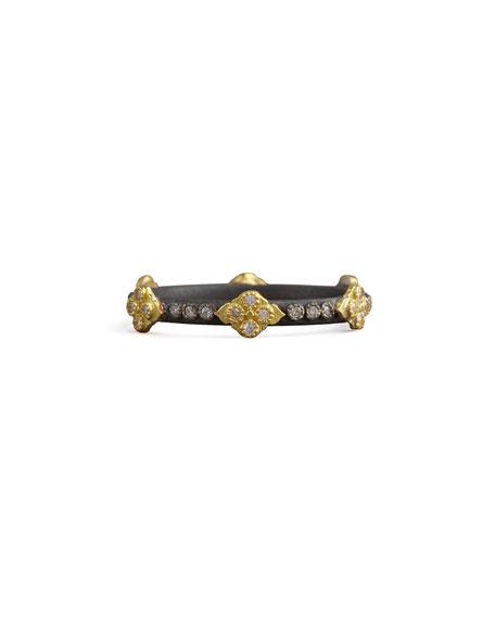 Armenta Crivelli Cross Diamond Ring, Silver