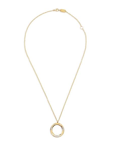18K Glamazon Wavy Diamond Circle Necklace