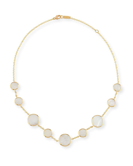 Ippolita 18K Polished Rock Candy Circle Station Necklace