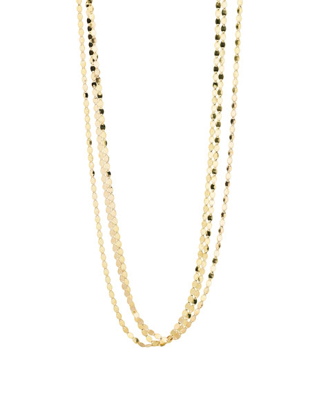 LANA Bond Short Nude Three-Strand Necklace