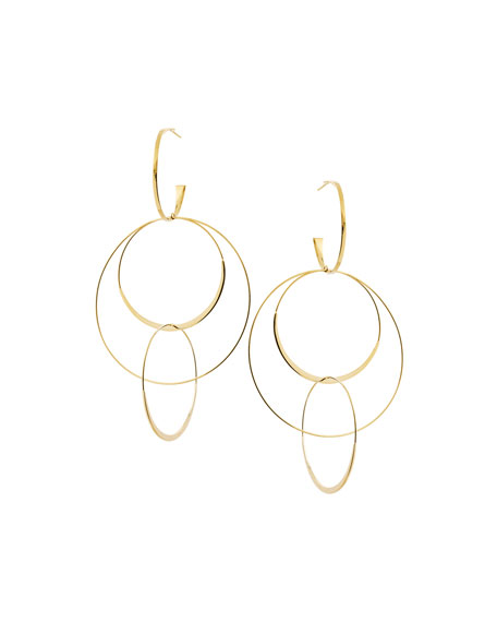 LANA Bond Large 14K Interlocking Flat Hoop Earrings