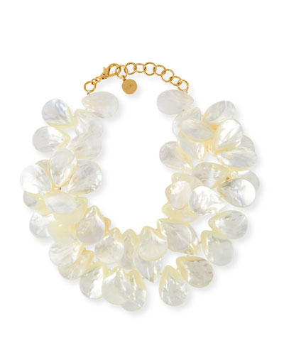 Mother-of-Pearl Cluster Necklace
