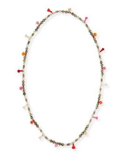 Bella Beaded Tassel Necklace, 42