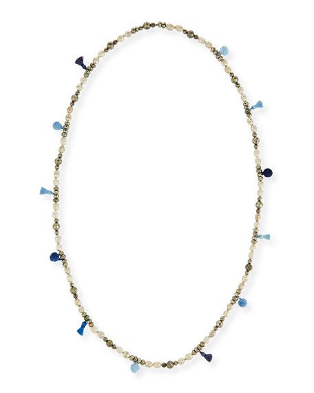 "Livie Beaded Tassel Necklace, 42"""