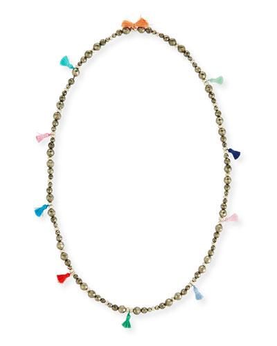 Bianca Beaded Tassel Necklace, 42