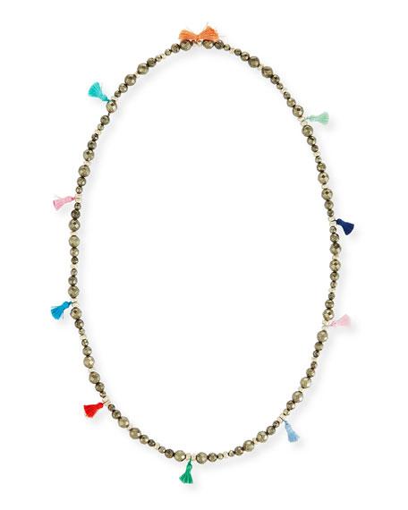 "Bianca Beaded Tassel Necklace, 42"""