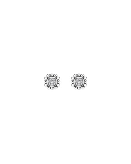 Image 2 of 3: Lagos 10mm Caviar Spark Diamond Stud Earrings