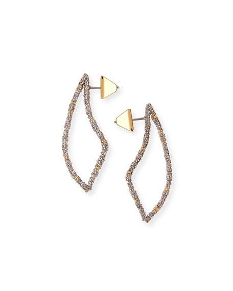 Pave Crystal-Encrusted Thorn Drop Earrings