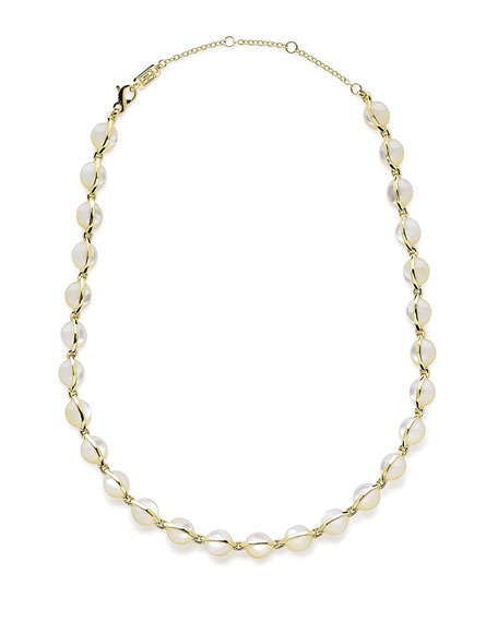 18K Senso™ Metal-Wrapped Mother-of-Pearl Necklace, 18""