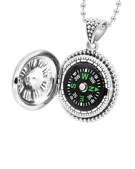 LAGOS Signature Caviar Compass Necklace