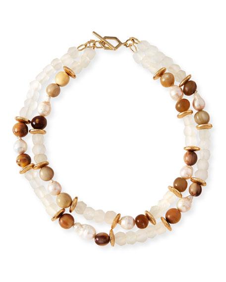 Akola Pearl & Java Glass Beaded Bracelet