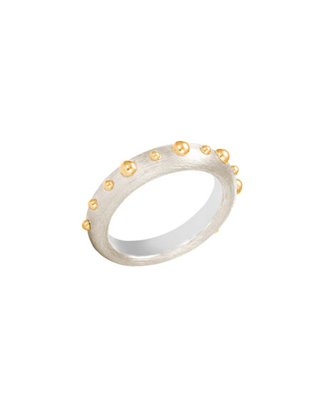 John Hardy 3mm Dot Brushed Band Ring, Size