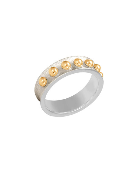 John Hardy 6mm Dot Brushed Band Ring, Size