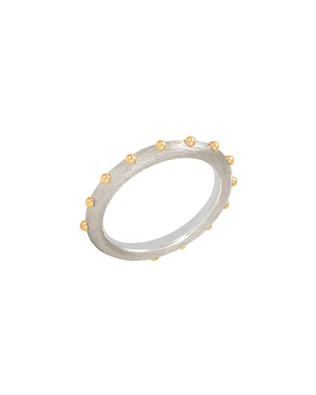 4.5mm Dot Brushed Band Ring, Size 7