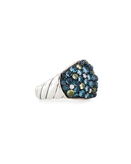 David Yurman Osetra Mosaic Dome Ring with Diamonds