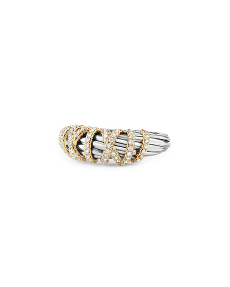 David Yurman 8mm Helena Diamond Wrap Ring