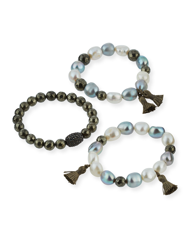 Hipchik Eleanor Set of Three Beaded Bracelets ERHnm0