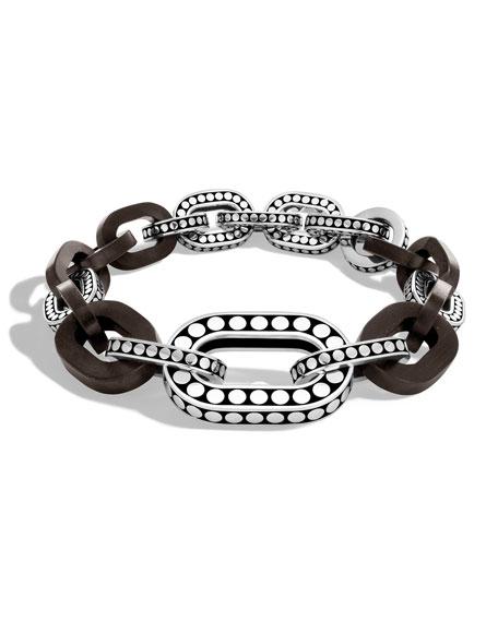 John Hardy Dot Graduated Ebony Link Bracelet