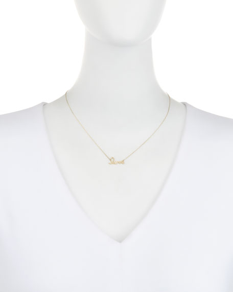 "14k Gold Diamond ""Love"" Necklace"
