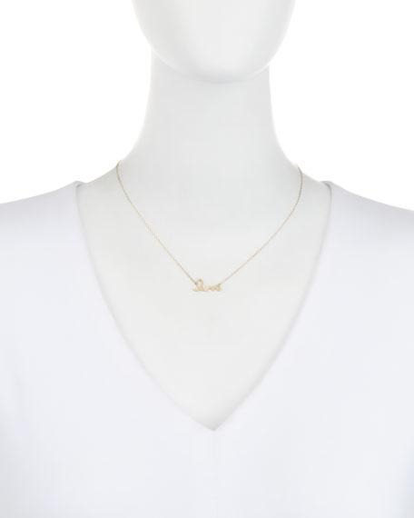 """14k Gold Diamond """"Love"""" Necklace"""