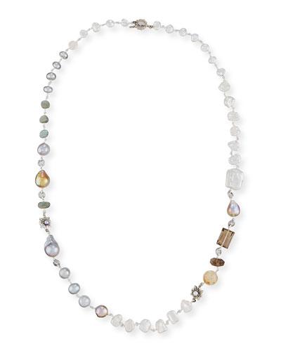 Long Single-Strand Beaded Necklace