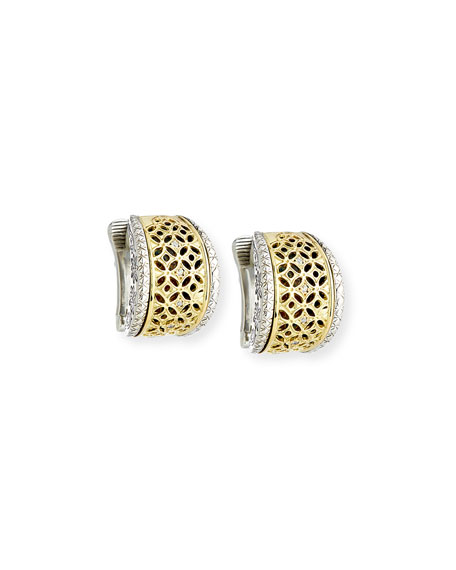 Konstantino Filigree Clip-On Hoop Earrings