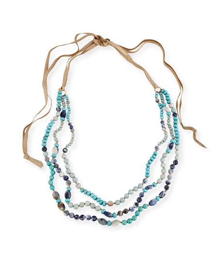 Chan Luu Three-Strand Beaded Necklace