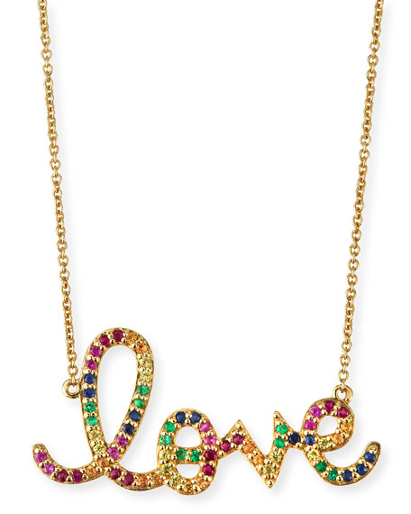 Sydney evan large rainbow sapphire love necklace neiman marcus large rainbow sapphire love necklace aloadofball Choice Image