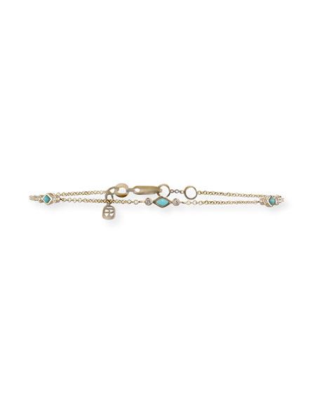 Sydney Evan Turquoise & Diamond Bezel Chain Bracelet LYljB4wY