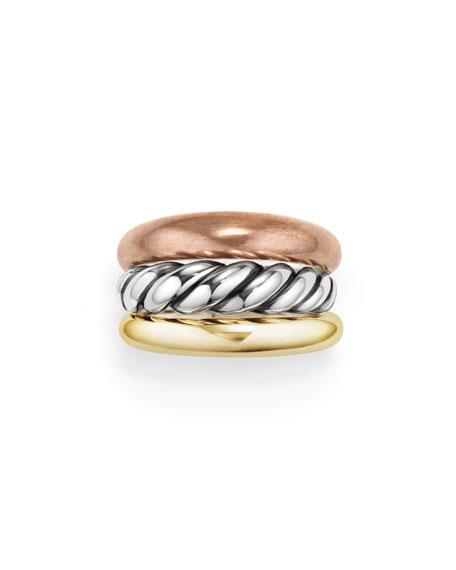Pure Form Three-Row Band Ring