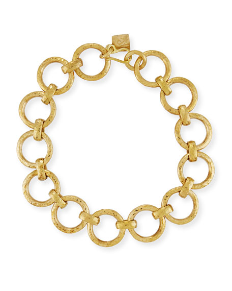 Ashley Pittman Daima Bronze Link Necklace