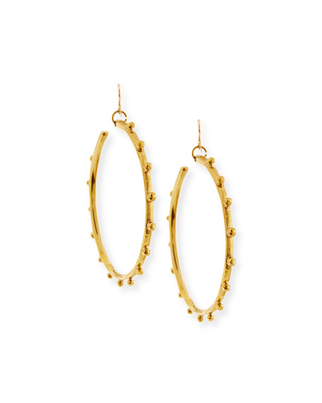 Ashley Pittman Teli Studded Bronze Hoop Earrings D7EZs