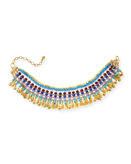 Sequin Martinique Semiprecious Beaded Statement Choker
