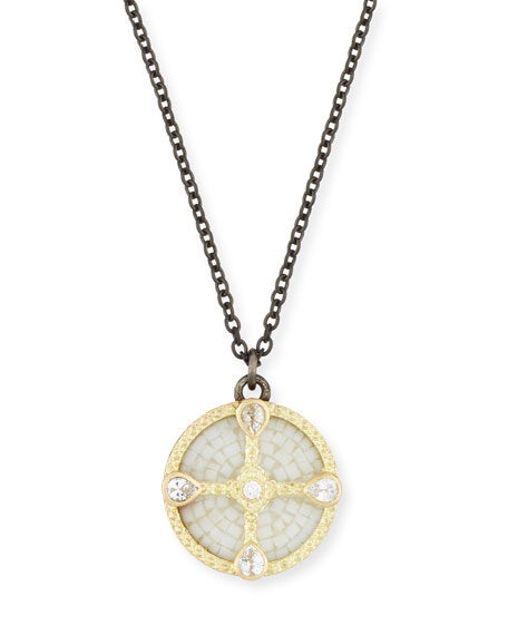 Armenta Old World Mosaic Shield Pendant Necklace with