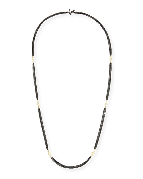 Old World Three-Strand Cable Chain Necklace