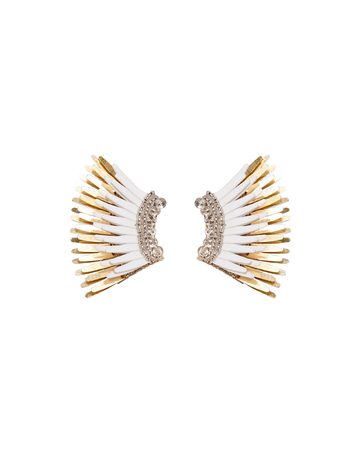 Mignonne Gavigan Mini Madeline Statement Earrings White