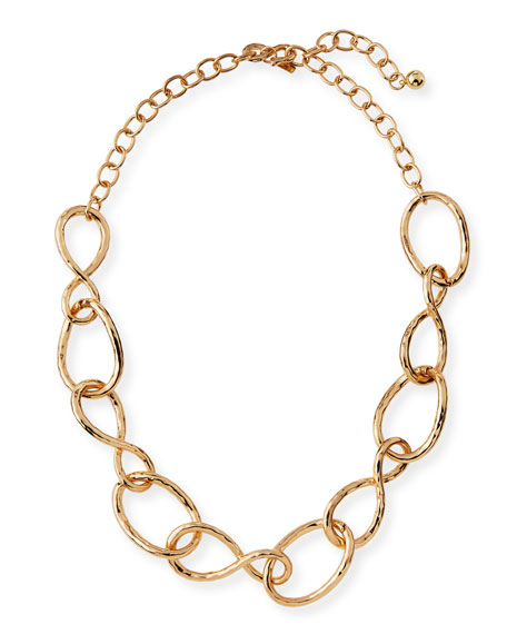 Kenneth Jay Lane Twisted Open Link Necklace, 20