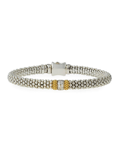 Lagos Diamond Lux Small Station Bracelet