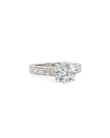 Fantasia by DeSerio Round Cubic Zirconia Solitaire Ring