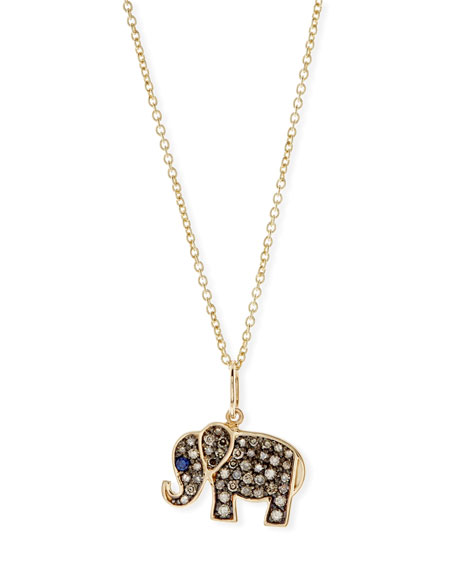 Sydney Evan Anniversary Elephant Necklace with Diamonds