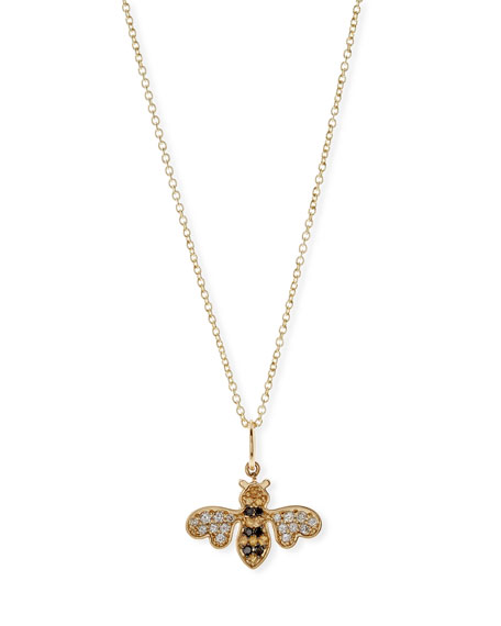 Sydney Evan Anniversary Bee Pendant Necklace with Diamonds