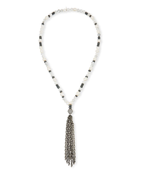 Hipchik Howlite & Pyrite Beaded Necklace