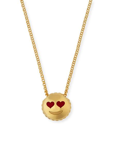 Roberto Coin Tiny Treasures Love Emoji Pendant Necklace
