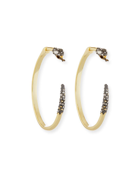 Crystal Snake Hoop Earrings