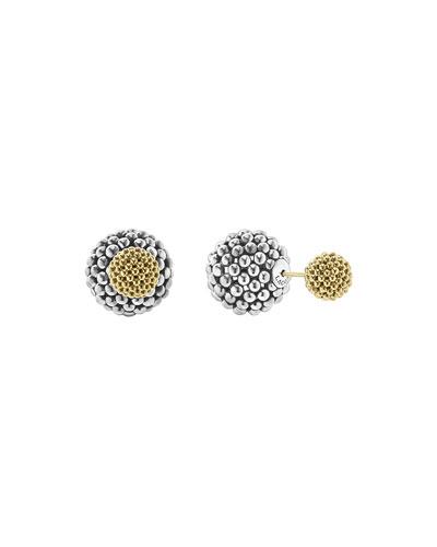 Sterling Silver & 18K Gold Front-Back Ball Earrings