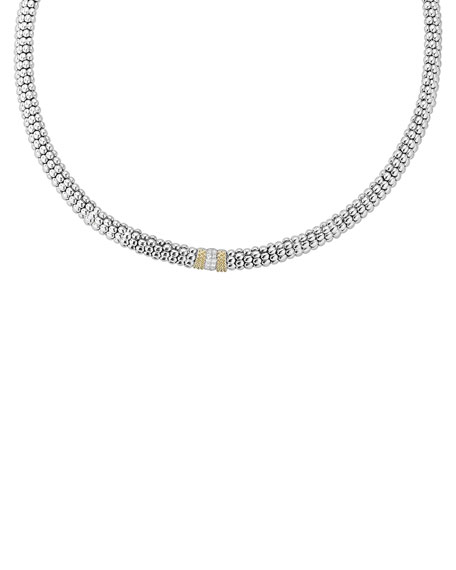 LAGOS Caviar Lux Diamond Station Necklace
