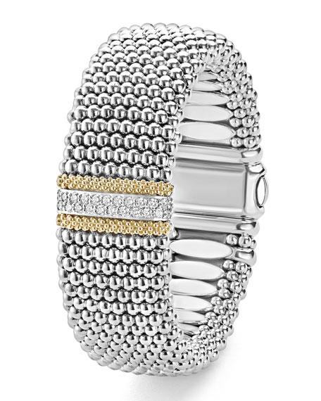 LAGOS Diamond Lux Caviar 23mm Single-Station Bracelet