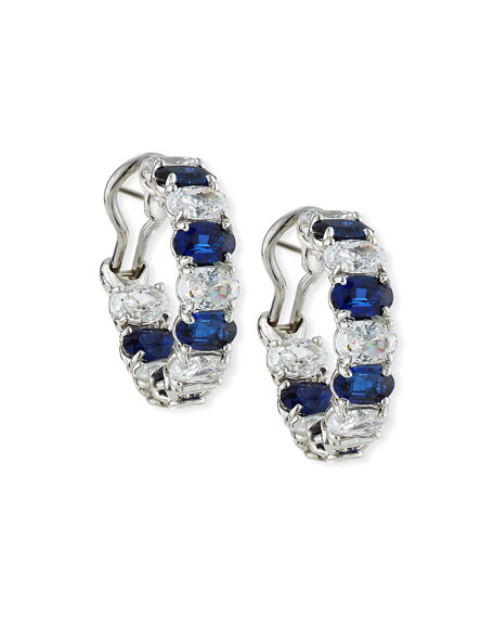 Fantasia by DeSerio Alternating Blue & White CZ