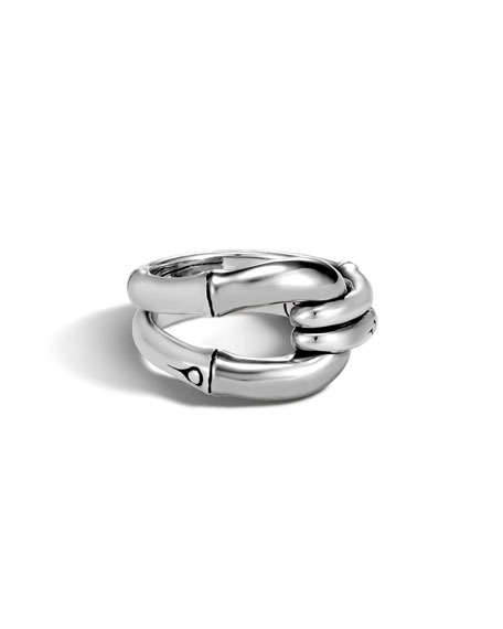 Image 3 of 3: Bamboo Sterling Silver Ring, Size 7