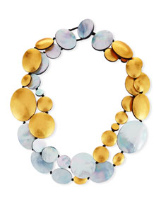 Viktoria Hayman Two-Strand Disc Necklace zxxAZYstS